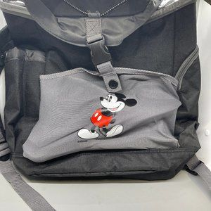 Disney Womens Gray Black Mickey Mouse Backpack OS